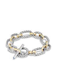 David Yurman - Metallic Cushion Chain Link Bracelet With Blue Sapphires And 18k Gold - Lyst