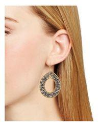 Aqua - Metallic Teardrop Earrings - Lyst