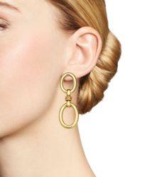 Roberto Coin - Metallic 18k Yellow Gold Double Oval Earrings - Lyst