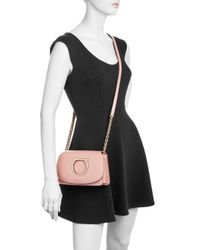 Ferragamo - Pink Gancio Vela Calfskin Flap Bag - Lyst