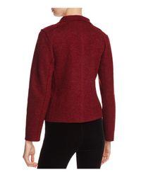 Eileen Fisher - Red Merino Wool Moto Jacket - Lyst
