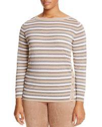 Marina Rinaldi - Multicolor Abigail Metallic Stripe Button Side Sweater - Lyst