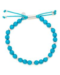 Gorjana - Blue Silver-tone Large-bead Bracelet - Lyst