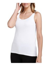 Eileen Fisher | White System Scoop Neck Tank | Lyst