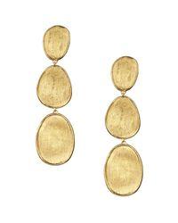 Marco Bicego   Metallic 18k Yellow Gold Lunaria Three Tiered Drop Earrings   Lyst