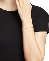 Ippolita Metallic 18k Yellow Gold Sensotm Three Section Medium Bangle With Diamonds