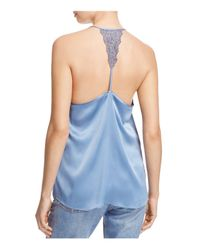 Cami NYC | Blue Emily Lace Racerback Silk Camisole | Lyst