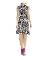 Vince Camuto - Black Abstract Print Wrap Dress - Lyst