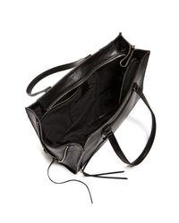 Rebecca Minkoff - Black Regan Always On Side Zip Leather Tote - Lyst