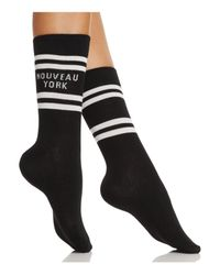 Kate Spade - Black Nouveau York Crew Socks - Lyst