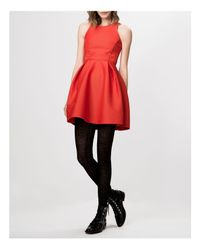Maje - Red Dress - Grease Fit And Flare - Lyst