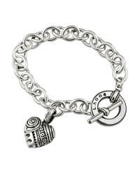 "Lagos | Metallic ""heart Of Philadelphia"" Charm Bracelet | Lyst"