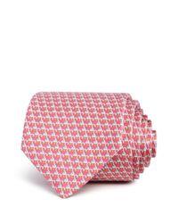 Ferragamo - Pink Swans Classic Tie for Men - Lyst