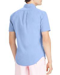Polo Ralph Lauren - Blue Classic Fit Short Sleeve Oxford Shirt for Men - Lyst