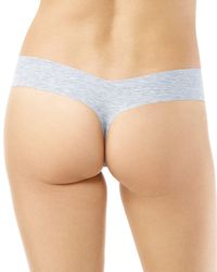 Commando - Blue Cotton-stretch Heathered Thong - Lyst