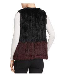 525 America - Black Two-tone Real Rabbit Fur Vest - Lyst