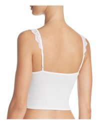 Only Hearts - White So Fine Lace Crop Cami - Lyst