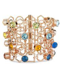 Atelier Swarovski - Metallic X Mary Katrantzou Nostalgia Wide Openwork Bracelet - Lyst