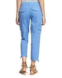 Sanctuary - Blue Cropped Cargo Pants - Lyst