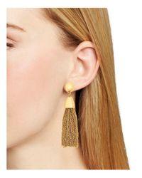 BaubleBar - Metallic Tassel Link Drop Earrings - Lyst