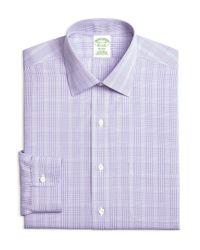 Brooks Brothers - Purple Milano Tonal Plaid Regular Fit Dress Shirt for Men - Lyst