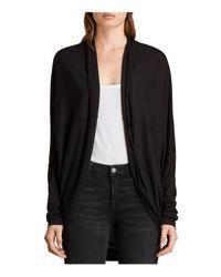 AllSaints Black Itat Jersey Shrug