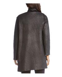 Karen Kane | Black Faux Shearling Coat | Lyst