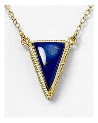 Anna Beck | Blue Lapis Triangle Pendant Necklace, 16"
