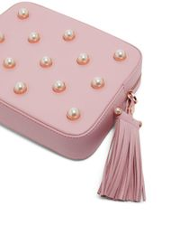 Ted Baker - Pink Alessia Faux-pearl Leather Camera Bag - Lyst
