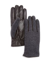 Bloomingdale's - Gray Knit Top Tech Glove for Men - Lyst