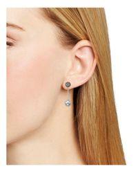 Nadri - Gray Pavé Drop Earrings - Lyst