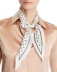 Echo White Dotty Diamond Silk Scarf