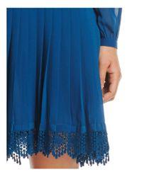 Tory Burch - Blue Sydney Pleated Shirt Dress - Lyst