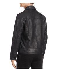 Andrew Marc - Black Morrison Leather Bomber Jacket for Men - Lyst