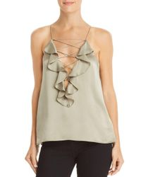 Cami NYC - Multicolor Vera Ruffled Criss-cross Detail Silk Top - Lyst