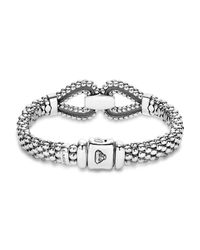 Lagos - Metallic Sterling Silver Derby Caviar Bracelet - Lyst