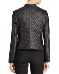 Lauren by Ralph Lauren - Black Ralph Quilted Leather Jacket - Lyst