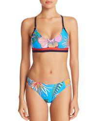 Trina Turk - Blue Tahiti Tropical Bralette Bikini Top - Lyst