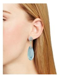 Alexis Bittar - Blue Pavé Lucite Post Earrings - Lyst
