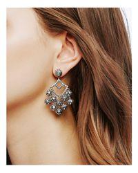 John Hardy - Metallic Sterling Silver Dot Chandelier Earrings - Lyst