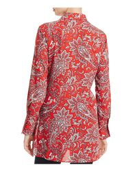 Foxcroft - Red Serena Tie Waist Paisley Print Tunic - Lyst