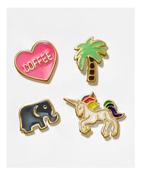 Dogeared - Multicolor Life's A Beach Palm Tree Pin - Lyst