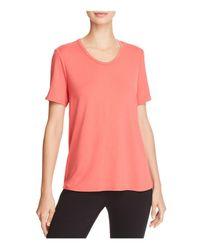Eileen Fisher - Pink Soft Short-sleeve Tee - Lyst