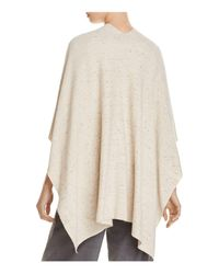 Eileen Fisher - Natural Speckled Poncho Cardigan - Lyst