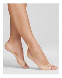 Hue - Natural Perfect Edge Peep Toe Liner Socks - Lyst