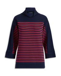 Ralph Lauren - Blue Lauren Striped Boxy Top - Lyst
