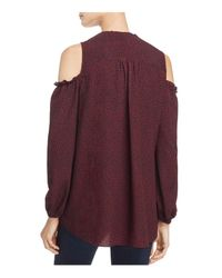 French Connection - Purple Callie Crepe Cold-shoulder Top - Lyst