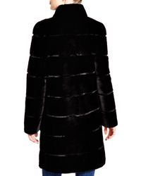 Maximilian - Black Maximilian Sheared Rabbit Coat - 100% Exclusive - Lyst