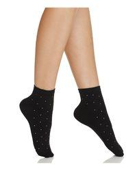 Kate Spade - Black Gem Anklet Socks - Lyst