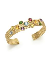 Marco Bicego - Metallic 18k Yellow Gold Jaipur Five Band Mixed Semi-precious Gemstone Cuff Bracelet - Lyst